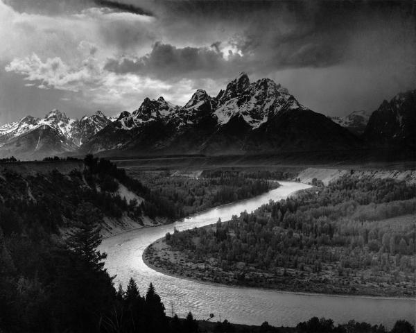 Tetons and Snake River, Ansel Adams