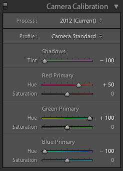 Lightroom Camera Calibration