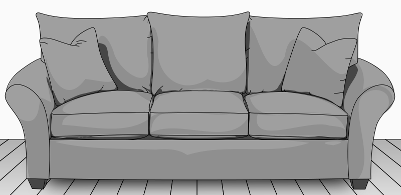 Standard width couch