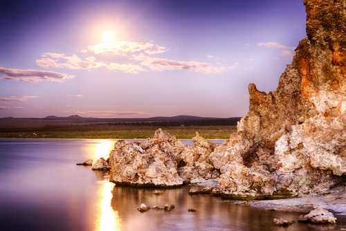 Supermoon over Mono Lake